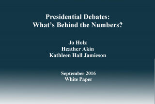 What's Behind the Numbers on Televised Presidential Debates?